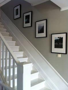 Discover recipes, home ideas, style inspiration and other ideas to try. Decorating Stairway Walls, Staircase Wall Decor, Staircase Design, Basement Remodel Diy, Staircase Remodel, Staircase Makeover, Wainscoting Stairs, Stair Walls, Center Hall Colonial