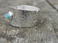 Sterling Silver Adjustable Ring Turquoise gemstone Engraved Hand Made , Bague Argent Ajustable Gravée Turquoise de la boutique INDIGUAL sur Etsy