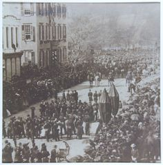 a15ec7fa36 Abraham Lincoln funeral in New York, April 25, 1865. View of Abraham  Lincoln's