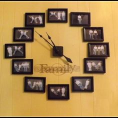 @shutterfly  Wall clock using KIDS as numbers! | Looksi Square