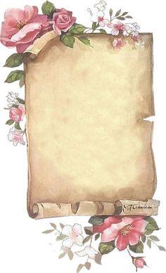 exemple papier � lettre style parchemin � imprimer