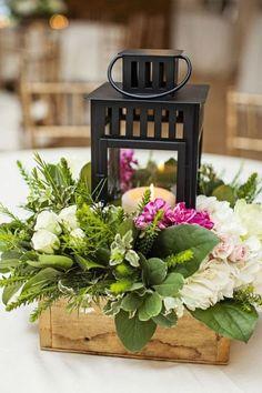 FLORAL LANTERN WEDDING CENTERPIECES (5)