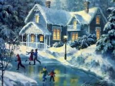 Christmas Paintings are beautiful wallpapers you can choose to decorate your computer desktop. Christmas paintings look like real painted pictures and usually have antique look, perfect for retro lovers. Noel Christmas, Christmas Music, Vintage Christmas Cards, Christmas Pictures, Winter Christmas, Christmas Scenery, Winter Pictures, Free Desktop Wallpaper, Winter Wallpaper