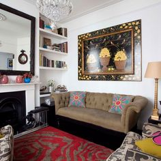 Colourful vintage living room | Small living rooms | Living room design ideas | PHOTO GALLERY | 25 Beautiful Homes | Housetohome.co.uk