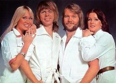 ABBA - never saw this particular pose before.