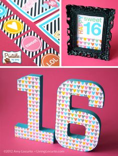 Decorations fit for any sixteen year old girl - hearts galore - a very sweet theme #sweetsixteen #birthday