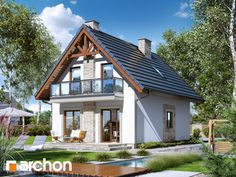 Dom w sasankach (A) Home Fashion, Cabin, House Styles, Home Decor, Balcony, Decoration Home, Room Decor, Cabins, Cottage
