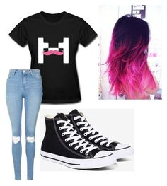 """Untitled #3"" by mburghardt on Polyvore featuring Topshop and Converse"