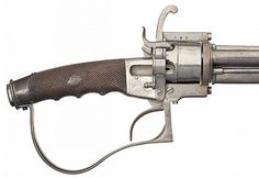 Lock, Stock, and History, Rare Belgian cavalry sword / 9mm pinfire revolver,...