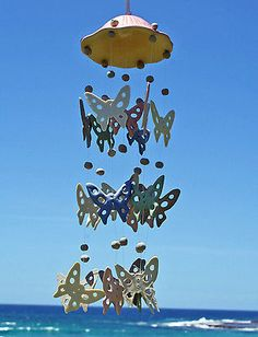 Beautiful and Unique Ceramic Butterfly Windchime Home Garden Decor Gift   eBay