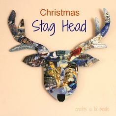 Christmas Stag Head Decoration | Crafts a la mode