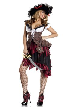pirate #costumesforwomen. NEW! Hot Hooligan Adult Pirate Costume available at Teezerscostumes.com