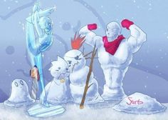 oh! it's like Alphy' and Undyne's snowselves are gonna share 'Pokey' sticks, these adorable weeaboos
