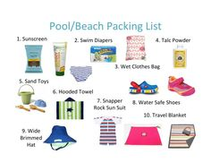 Pool/Beach Packing List for Baby- MomMe Blog