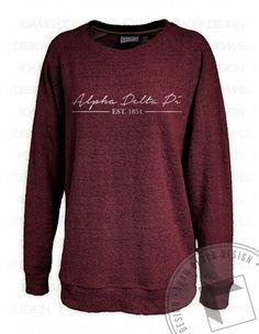 Alpha Delta Pi Poodle Sweatshirt by Adam Block Design | $34 or less each plus shipping | www.adamblockdesign.com