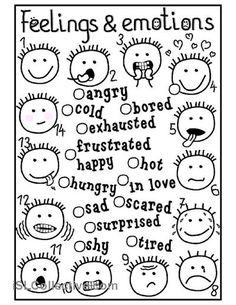Feelings and emotions - matching worksheet - Free ESL printable worksheets made by teachers: