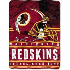 NFL Washington Redskins Stacked 60 inch x 80 inch Silk Touch Throw, Multicolor