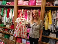 Our lovely Madison Avenue sales manager, Maria, and her favourite item from the Spring 2013 collection - the rose print dress