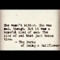 The Perks of Being a Wallflower. I. Love. This.