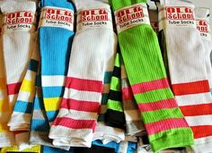 New 3 Pack Pairs Old School Striped Tube Socks Knee Highs Skater Sporty Sexy Hot   eBay