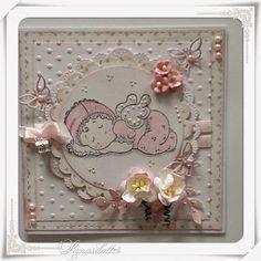 Lunasdatters Scrapbooking: Baby kort..