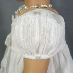 "~ SIMPLY WHITE ~ Regency Dress Jane Austen Era White American Girl 18"" Caroline"