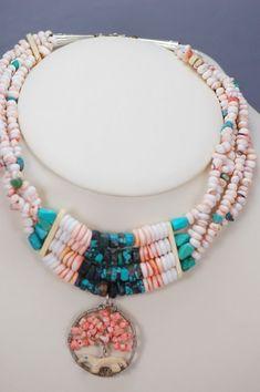 Santo Domingo Medicine Wheel Necklace   Authentic Native American Medicine Wheel   Native American Jewelry