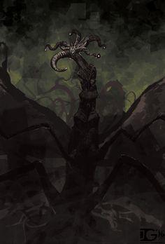 """Ilustración de cubierta para """"At the Mountains of Madness"""" de  Joe Grabenstetter"""