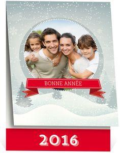 Carte de voeux aux couleurs de l'hiver et de Noël pour souhaiter chaleureusement une bonne année à ceux qui vous sont chers, ref N50142