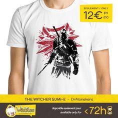 """(EN) """"The Witcher sumi-e"""" designed by the astounding Dr.Monekers is our NEW T-SHIRT. Available 72 hours order yours today for only 12/$14/10 on WWW.WISTITEE.COM (FR) """"The Witcher sumi-e"""" créé par l'incroyable Dr.Monekers est notre NOUVEAU T-SHIRT. Disponible 72 heures réservez-le dès maintenant pour seulement 12 sur WWW.WISTITEE.COM  #TheWitcher #Witcher #Geralt #GeraltDeRiv #GeraltOfRivia #WildHunt #Yennefer #Ciri #Sumie #jeuvideo #jeuxvideo #videogame #videogames #AndrzejSapkowski…"""
