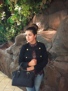 Timeless Optimist Blog | embellished military jacket + sleeveless lace top + high waisted jeans