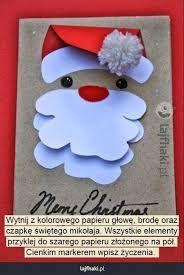 Znalezione obrazy dla zapytania kartka świąteczna własnoręczna