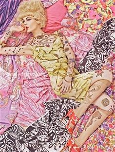 Steven Meisel's Patterns Photographs for Vogue