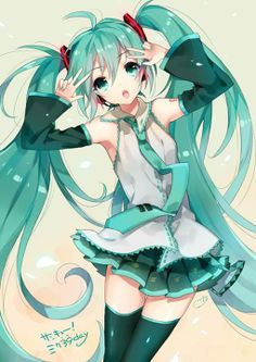 vocaloid, hatsune miku, and anime image Manga Girl, Anime Girls, Manga Anime, Anime Art, Hatsune Miku Vocaloid, Kagamine Rin And Len, Miku Chan, Anime Kawaii, Kawaii Girl