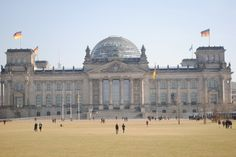 der reichstag - german government building; glass dome represents transparency in government.