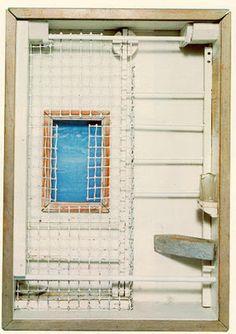 Joseph Cornell - Toward the Blue Peninsula, 1952 (memorial box for Emily Dickinson). Joseph Cornell Boxes, Found Object Art, Find Objects, Assemblage Art, Modern Artists, Magritte, Box Art, Art Boxes, American Artists