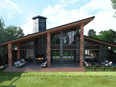 Roofing Maintenance Tips For Your Home 2019 Private house on Behance The post Roofing Maintenance Tips For Your Home 2019 appeared first on Architecture Decor. Modern House Plans, Modern House Design, Small House Plans, Casas Containers, House Sketch, Dream House Exterior, Mountain Home Exterior, Facade House, House Floor