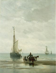 Hendrik Willem Mesdag, Anchored boat