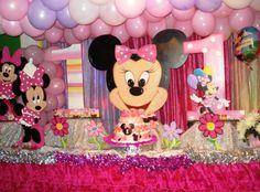 decoración Minnie isabella Party ideas