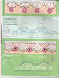 arts and craft books: edging crochet pattern, free crochet pattern - crafts ideas - crafts for kids