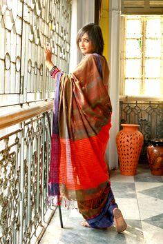 Kantha Sari hand-spun by women artisans in rural bengal