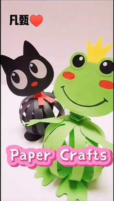 Paper Crafts Origami, Paper Crafts For Kids, Easy Crafts For Kids, Craft Activities For Kids, Toddler Crafts, Creative Crafts, Preschool Crafts, Fun Crafts, Fabric Crafts