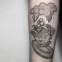 Resultado de imagen para storm in a teacup tattoo