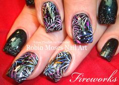 SUBSCRIBE and Show Me if you try this NEW YEARS EVE PARTY Nail Design with fireworks and bling Tutorial! Share it on my Nail Art fanpage and instagram linked...