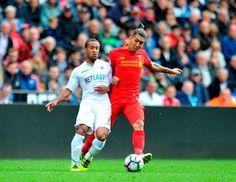Blog Esportivo do Suíço:  Liverpool começa mal, mas consegue virada sobre o Swansea com Firmino protagonista