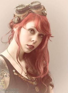 Tattoo #redhair  and the steampunk, yummy