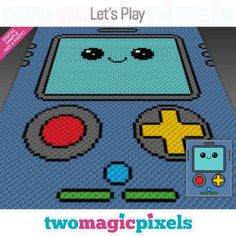 Two Magic Pixels - Beautiful graphs for crochet, cross stitch and other crafts C2c Crochet, Crochet Blanket Patterns, Pixel Crochet, Kids Crochet, Crochet Cross, Crochet Blankets, Baby Blankets, Crochet Ideas, Corner To Corner Crochet