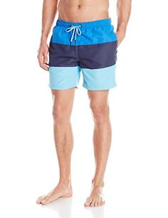 bb4490ceaf BJORN BORG Men's Colorblock Loose Swim Short, Strong Blue, XX-Large