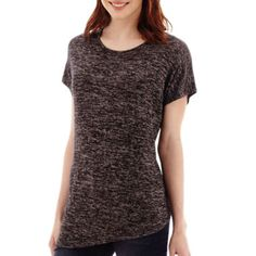 a.n.a® Short-Sleeve Asymmetrical Knit T-Shirt    found at @JCPenney