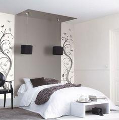 Una idea bonita y original para los cabezales de dormitorios, estas tiras de papel pintado las encontraremos en el catálogo Accent. https://papelvinilicoonline.com/es/178-accent